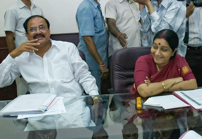 Sushma ji's wit was on display online: VP Naidu on her death anniversary