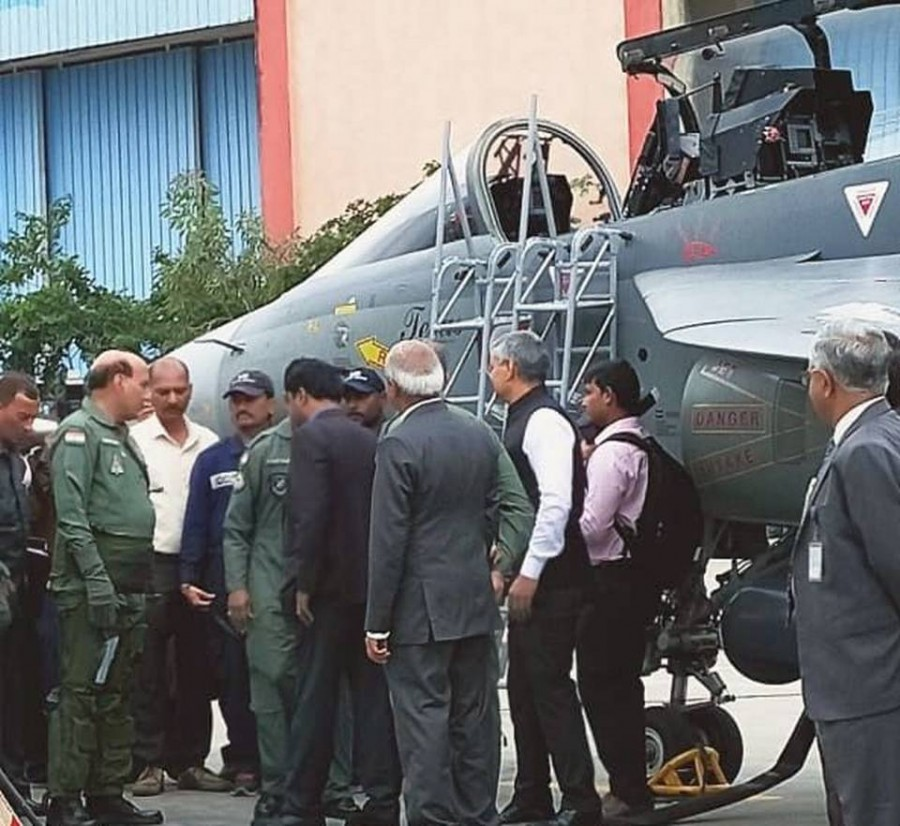 Rajnath singh first Defence minister to fly Light Combat Aircraft Tejas fighter