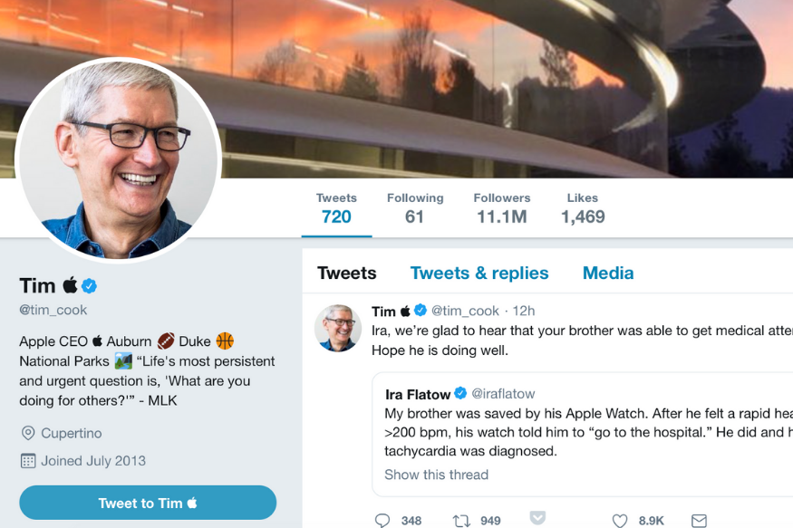 This is Not Fake News, Tim Cook Really is Now Tim Apple on Twitter