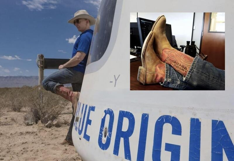 I wear my lucky boots every time Blue Origin launches a space vehicle: Bezos