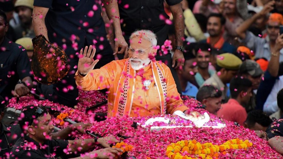 PM Modi to file nomination papers today, Dom Raja, chowkidar among proposers