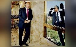 Trump shares photoshopped image of Obama spying on him, gets trolled