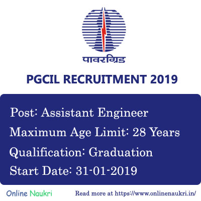 PGCIL Recruitment 2019 – Apply Online for 42 Assistant Engineer Posts