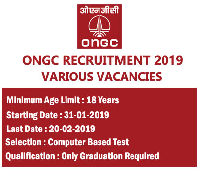ONGC Recruitment 2019 – Apply Online for Various Vacancies
