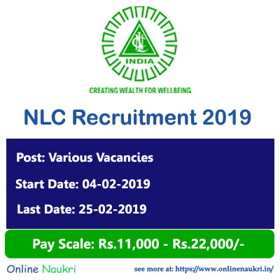 NLC Recruitment 2019 – Apply Online for 35 Officer, Engineer and Other Posts