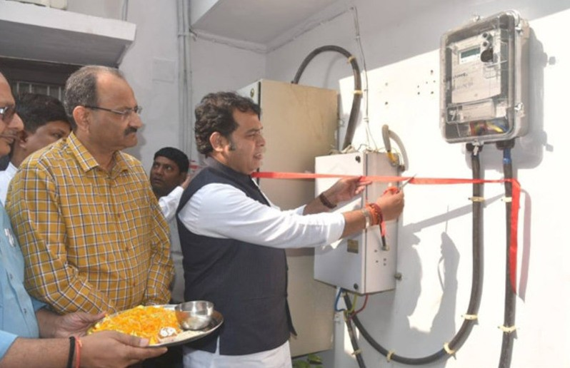 UP Power Minister Shrikant Sharma Sets Example, Installs Prepaid Electricity Meter At Home