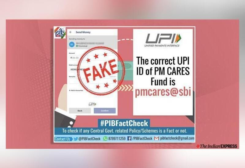 Fake UPI IDs circulating around PM-CARES Fund, alerts PIB