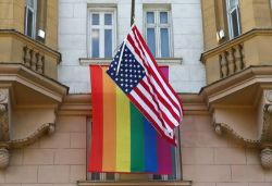 Russian President Putin mocks US embassy for flying rainbow flag