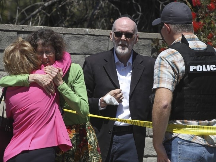 US synagogue shooting: 19-year-old kills 1, wounds rabbi and 2 others in California's Poway