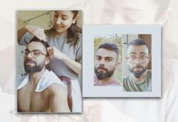 Anushka cuts Kohli's hair with kitchen scissors during quarantine, shares video