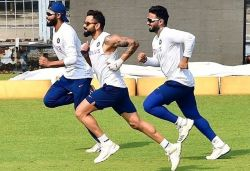 Kohli shares pic from training session, says it's impossible to outrun Jadeja