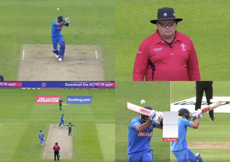 Kohli walks despite ball not touching his bat off Amir's bowling