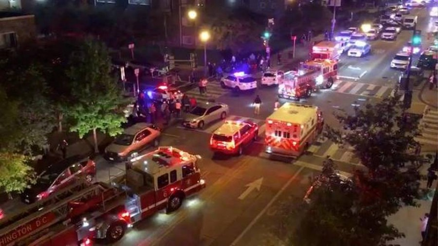 Five injured and one killed in shooting in Washington, D.C.