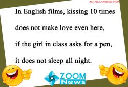 In English films, kissing 10 times does not make love even here...